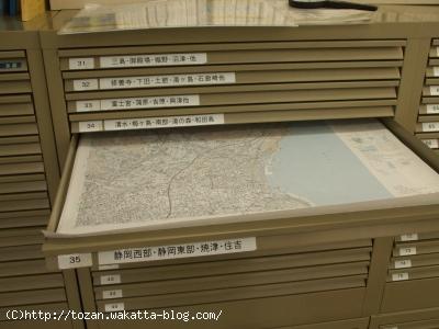 本屋の地形図売り場